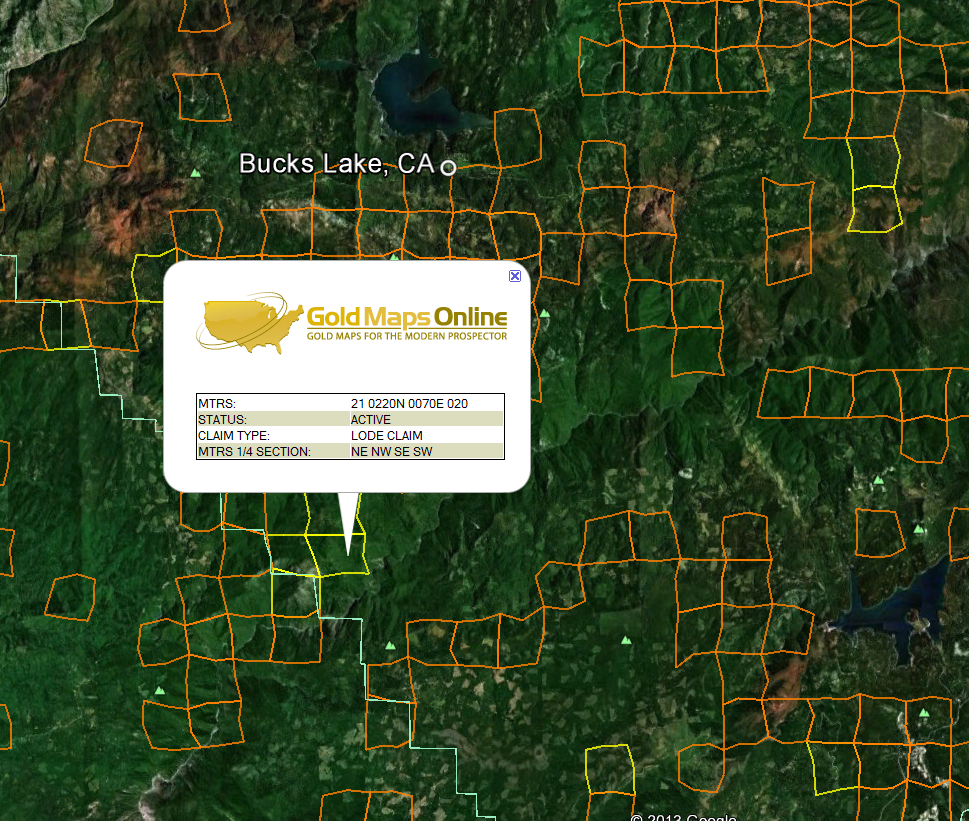California Gold Maps | Gold Claims