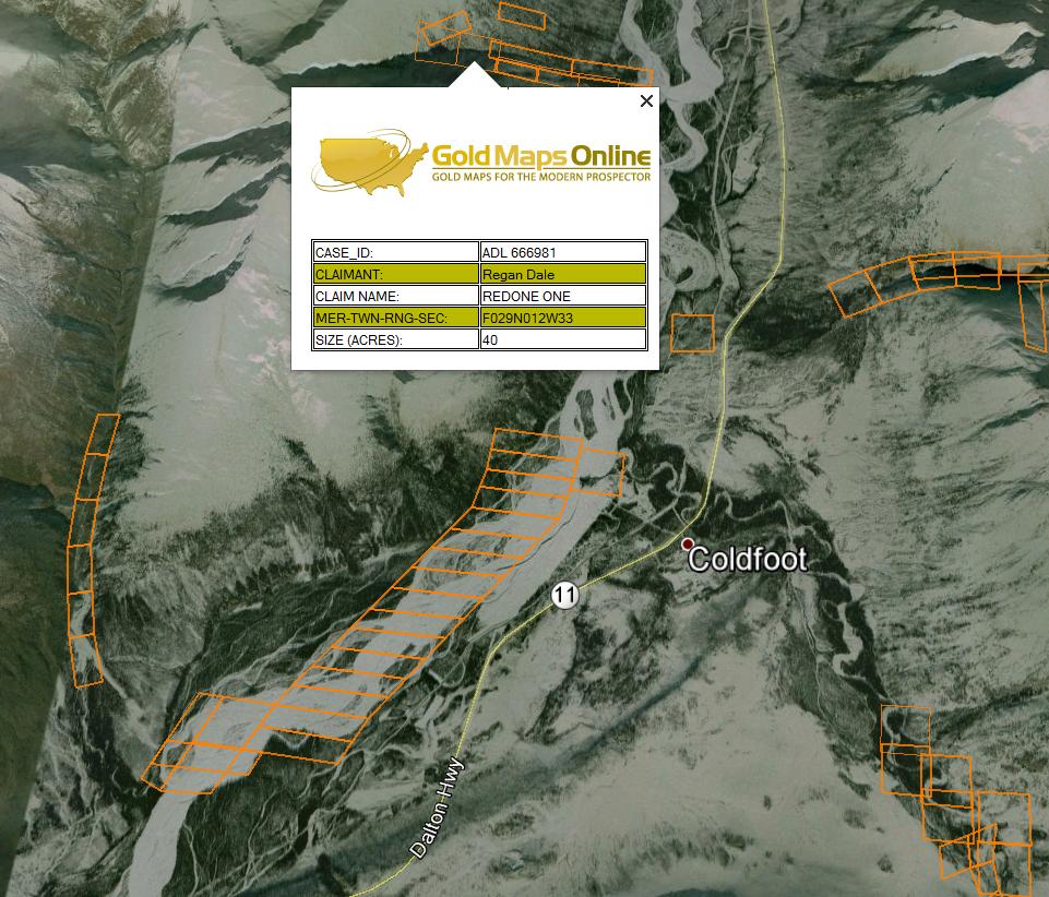 Fairbanks alaska gold prospecting maps for Fishing in fairbanks alaska