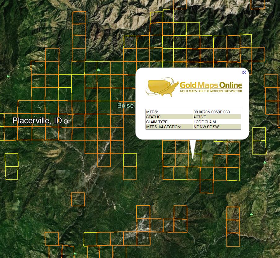 Idaho Gold Maps   Gold Claims on maine's map, california's map, idaho welfare map, oklahoma's map, idaho bureau of land management map, washington's map, saw hills of idaho map, idaho hunters map, idaho campgrounds map, oregon map, idaho farmland map, idaho county map, north idaho map,