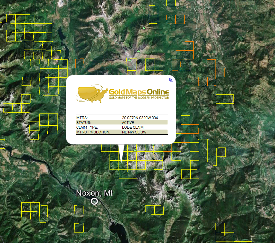 Nevada Gold Maps   Gold Claims on