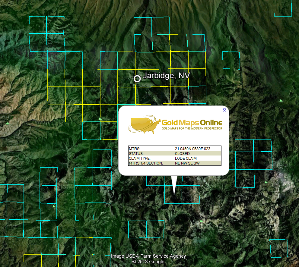 Nevada Gold Maps Gold Claims - Maps of nevada