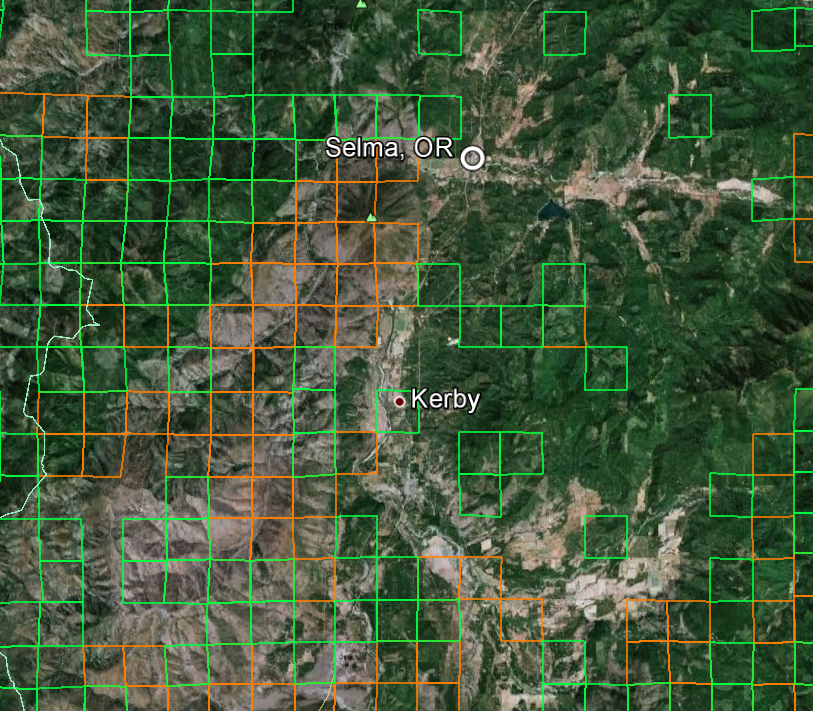 Oregon Gold Mines Map Oregon Gold Maps | Gold Claims