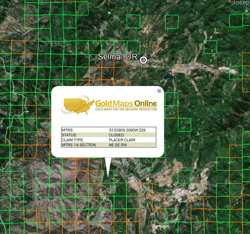 Gold In Oregon Map.Oregon Gold Maps Gold Claims