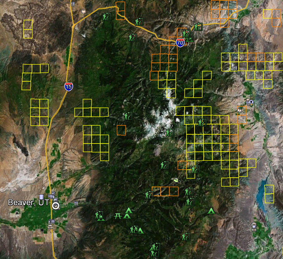 Utah Gold Maps  Gold Claims