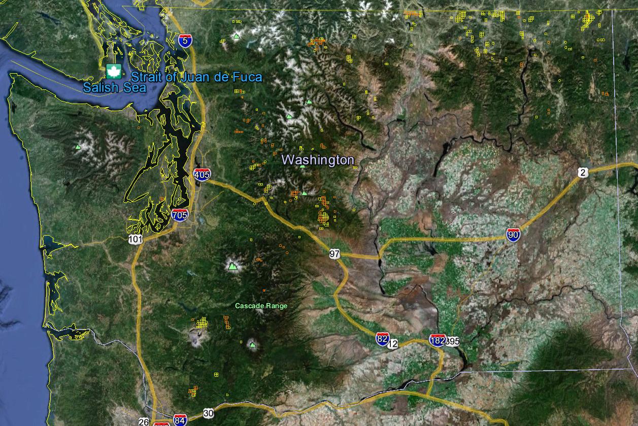 Washington Gold Maps Gold Claims - Maps of washington