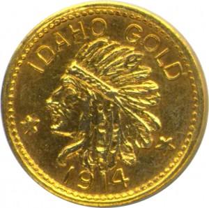 Idaho Gold Rush Coin